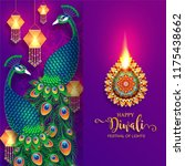 happy diwali festival card with ... | Shutterstock .eps vector #1175438662