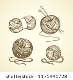 big soft natural twisted ravel...   Shutterstock .eps vector #1175441728