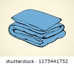 neat cozy snug thick feather... | Shutterstock .eps vector #1175441752
