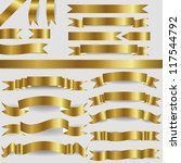 set of gold ribbons | Shutterstock .eps vector #117544792