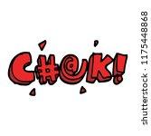 cartoon doodle swear word   Shutterstock .eps vector #1175448868