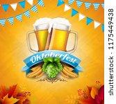 oktoberfest banner illustration ... | Shutterstock .eps vector #1175449438