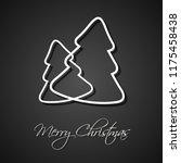 two white christmas trees on...   Shutterstock .eps vector #1175458438