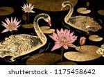 seamless pattern with birds... | Shutterstock .eps vector #1175458642
