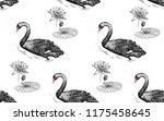 seamless pattern with birds... | Shutterstock .eps vector #1175458645