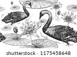 seamless pattern with birds... | Shutterstock .eps vector #1175458648
