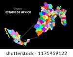 political map of mexico. colors | Shutterstock .eps vector #1175459122
