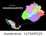 political map of mexico. colors | Shutterstock .eps vector #1175459125