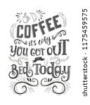 banner of coffee with lettering.... | Shutterstock .eps vector #1175459575