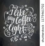 banner of coffee with lettering ... | Shutterstock .eps vector #1175461702