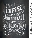 banner of coffee with lettering ... | Shutterstock .eps vector #1175461705