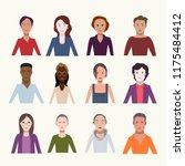 set of people in flat design | Shutterstock .eps vector #1175484412