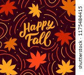 autumn banner with hand drawn... | Shutterstock .eps vector #1175484415