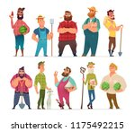 collection of farm character... | Shutterstock .eps vector #1175492215