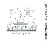 mosque vector icon on white... | Shutterstock .eps vector #1175499235