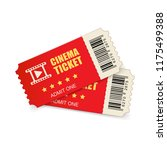 realistic cinema ticket icon in ... | Shutterstock .eps vector #1175499388
