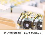 rows of dedicated asic for... | Shutterstock . vector #1175500678