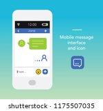 smartphone message interface...