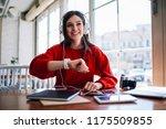 successful female meloman...   Shutterstock . vector #1175509855