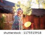 cheerful cheerful girl 6 years...   Shutterstock . vector #1175515918