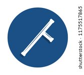 baton icon in badge style. one...