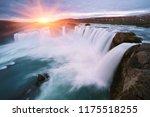 godafoss waterfall. natural and ... | Shutterstock . vector #1175518255