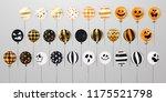 happy halloween. flying mega... | Shutterstock .eps vector #1175521798