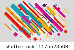 creative happy new year 2018... | Shutterstock .eps vector #1175523508