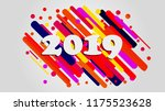 creative happy new year 2018... | Shutterstock .eps vector #1175523628