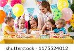 children's birthday. happy kids ... | Shutterstock . vector #1175524012