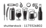 vintage beer set. barley  wheat ... | Shutterstock .eps vector #1175526802