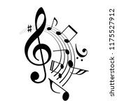 music notes abstract design... | Shutterstock .eps vector #1175527912