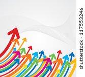 upward colorful arrow | Shutterstock .eps vector #117553246