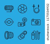 9 shutter icons with vintage... | Shutterstock .eps vector #1175534932