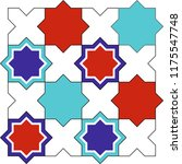 vector drawing with mosaic... | Shutterstock .eps vector #1175547748