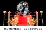 podium with analog digital... | Shutterstock . vector #1175549188