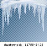 hanging translucent icicles... | Shutterstock .eps vector #1175549428