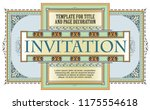 vector template flyer ... | Shutterstock .eps vector #1175554618