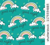 good night text with star and... | Shutterstock .eps vector #1175554885