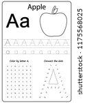 writing a z  alphabet ...   Shutterstock .eps vector #1175568025