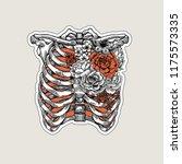 tattoo anatomy vintage... | Shutterstock . vector #1175573335