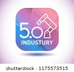 industry 5.0 icon and vector... | Shutterstock .eps vector #1175573515