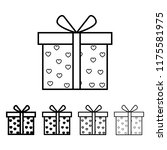 gift box with hearts icon in...