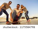 active teenager riding... | Shutterstock . vector #1175584798