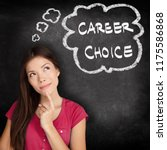 career choice student thinking... | Shutterstock . vector #1175586868