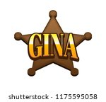 gina. popular nick names ... | Shutterstock . vector #1175595058