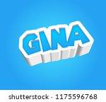 gina. popular nick names ... | Shutterstock . vector #1175596768
