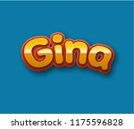 gina. popular nick names ... | Shutterstock . vector #1175596828