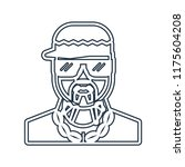 rapper icon vector isolated on... | Shutterstock .eps vector #1175604208