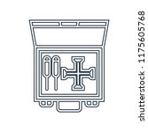 toolbox icon vector isolated on ... | Shutterstock .eps vector #1175605768